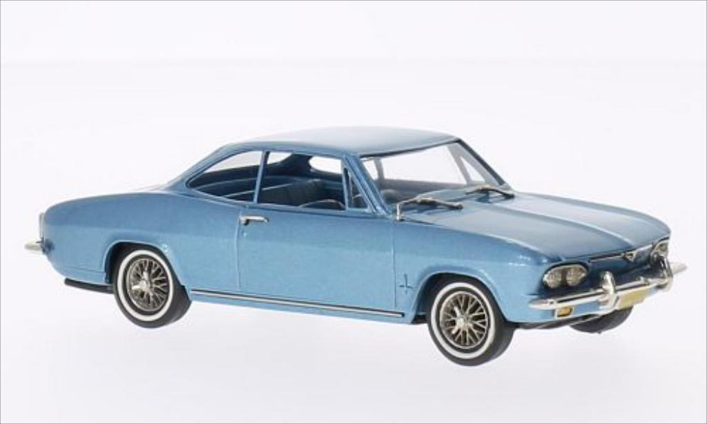 Chevrolet Corvair 1/43 Brooklin Monza metallise bleu 1967 miniature