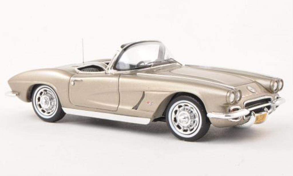 Chevrolet Corvette C1 1/43 Spark Convertible beige 1962 diecast model cars