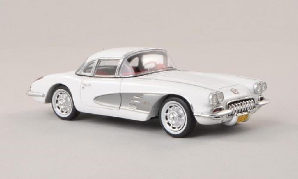 Chevrolet Corvette C1 1/43 Spark  Hardtop white/grey 1960 diecast model cars