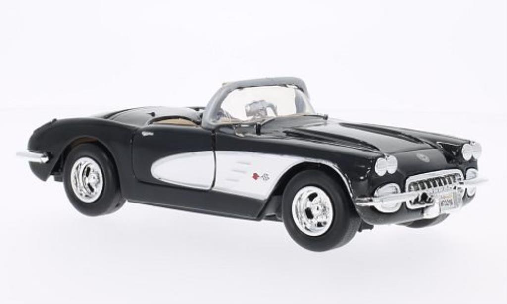 Chevrolet Corvette C1 1/24 Motormax  black/white 1959 diecast model cars