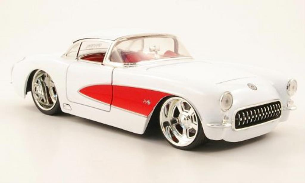 Chevrolet Corvette C1 1/24 Jada Toys (C1) Tuning white/red 1957 diecast