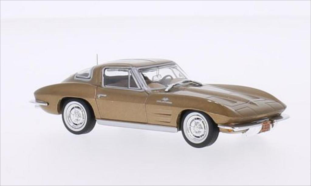 Chevrolet Corvette C2 1/43 WhiteBox Stingray gold 1963 miniature