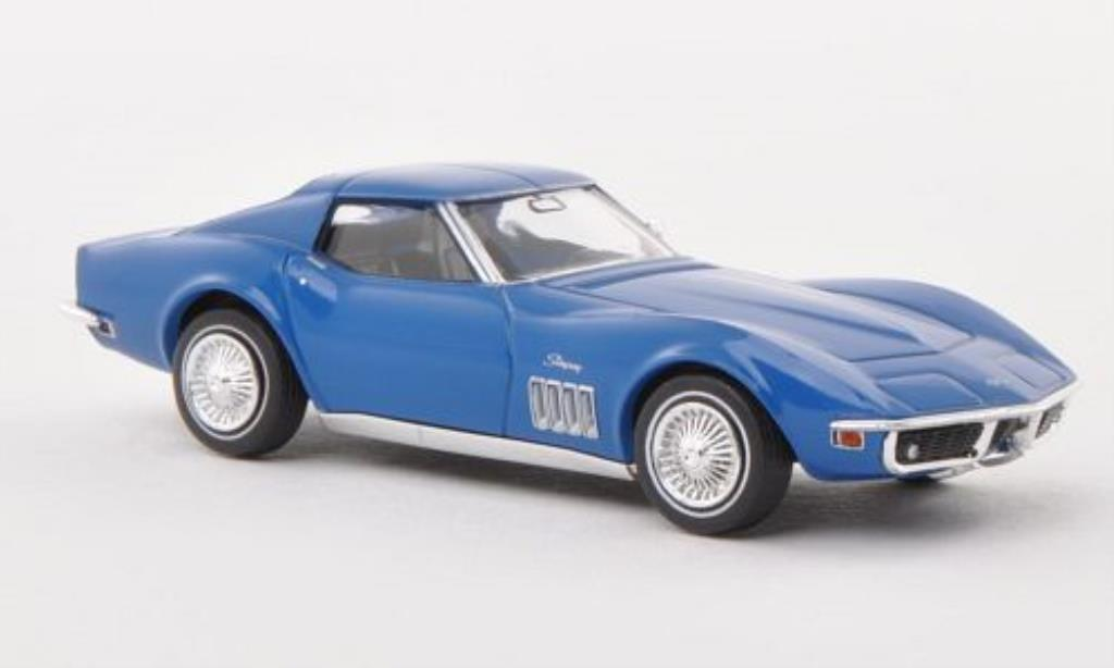 Chevrolet Corvette C3 Coupe Blue Brekina Diecast Model Car