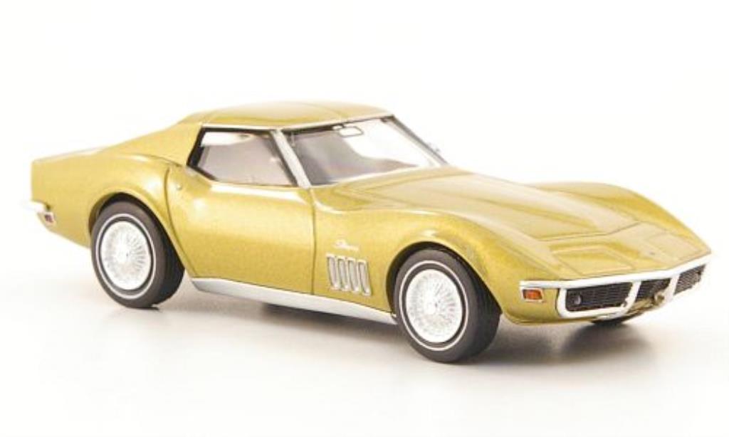 Chevrolet Corvette C3 1/87 Brekina  gold miniature
