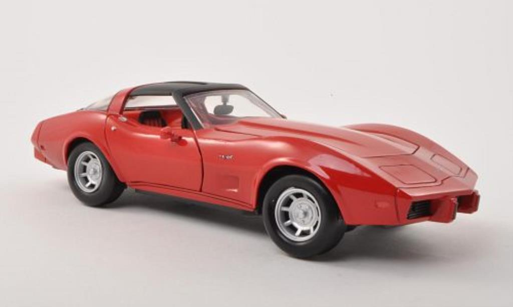 Chevrolet Corvette C3 1/24 Motormax  red/matt-black 1979 diecast