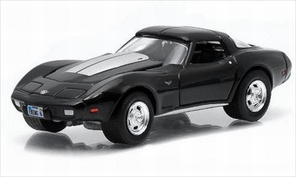 Chevrolet Corvette C3 1/64 Greenlight black/grey 1978 diecast model cars