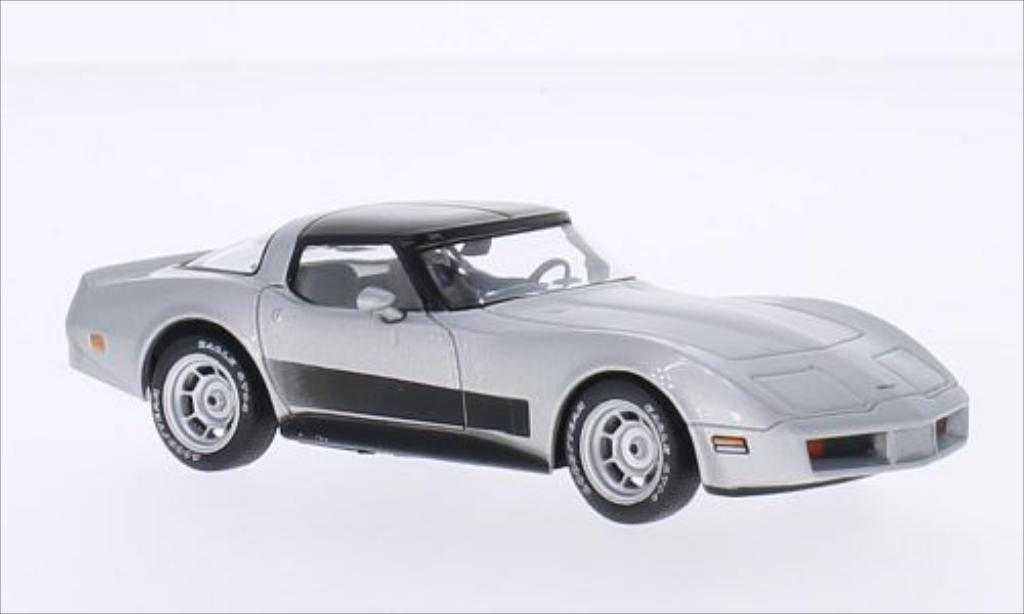 Chevrolet Corvette C3 gray 1980 WhiteBox. Chevrolet Corvette C3 gray 1980 miniature 1/43