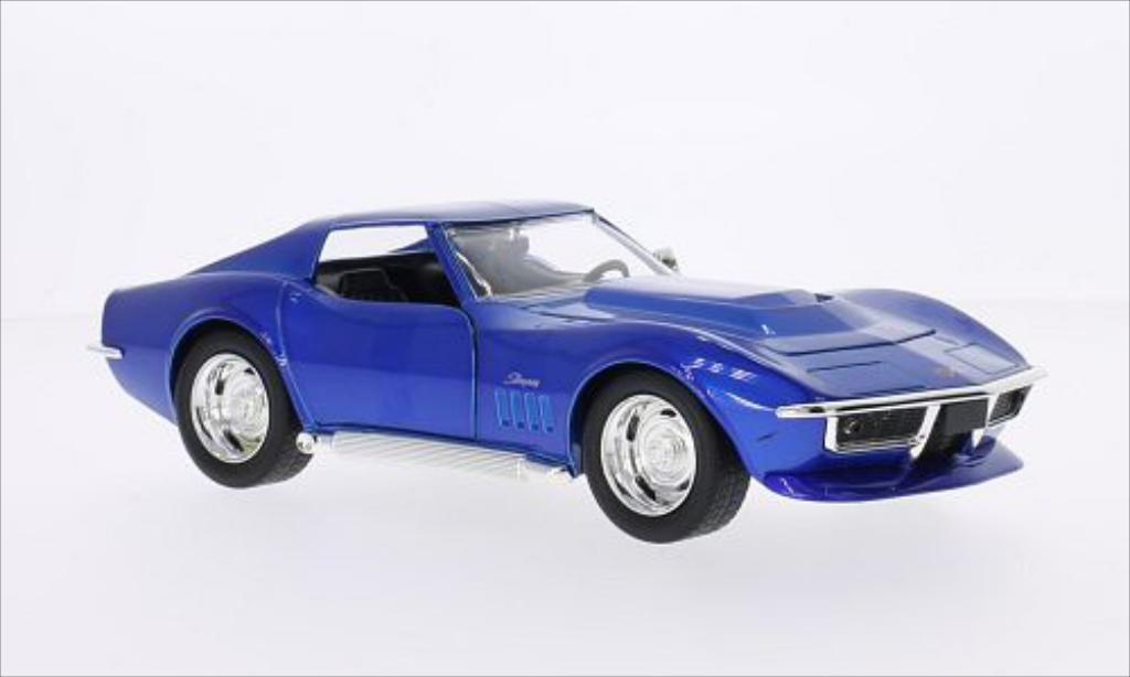 Chevrolet Corvette C3 1/24 Jada Toys Toys Stingray bleu 1969 miniature