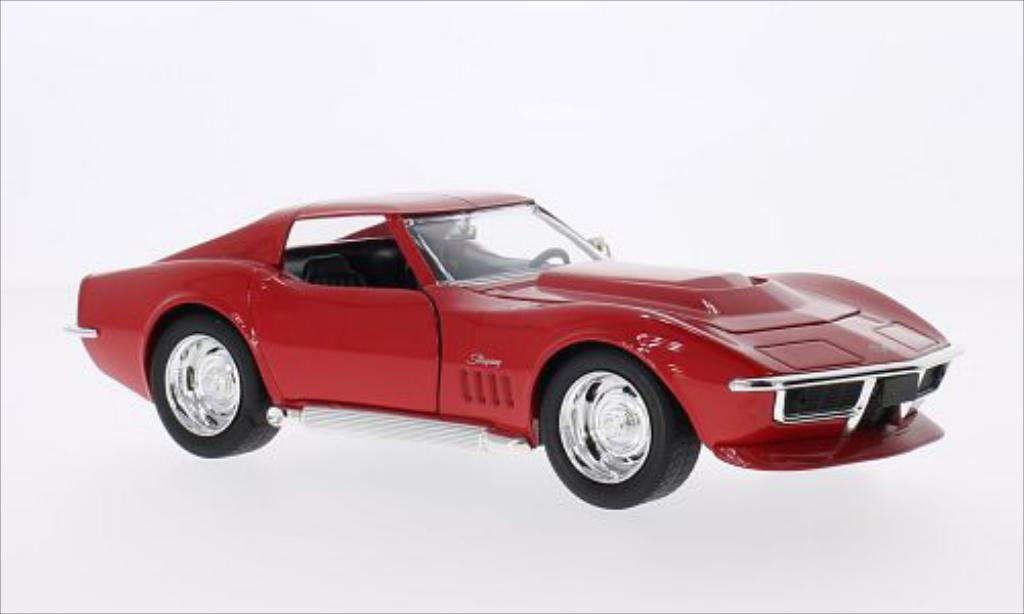 Chevrolet Corvette C3 1/24 Jada Toys Toys Stingray rouge 1969 miniature