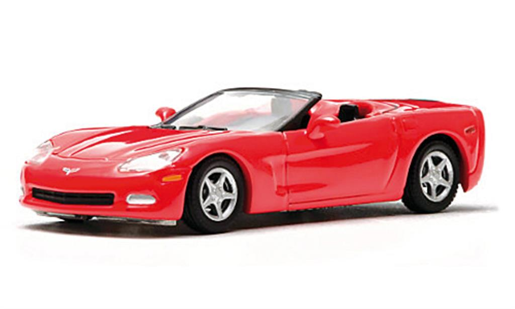Chevrolet Corvette C6 1/64 Greenlight Convertible rosso 2005 miniatura