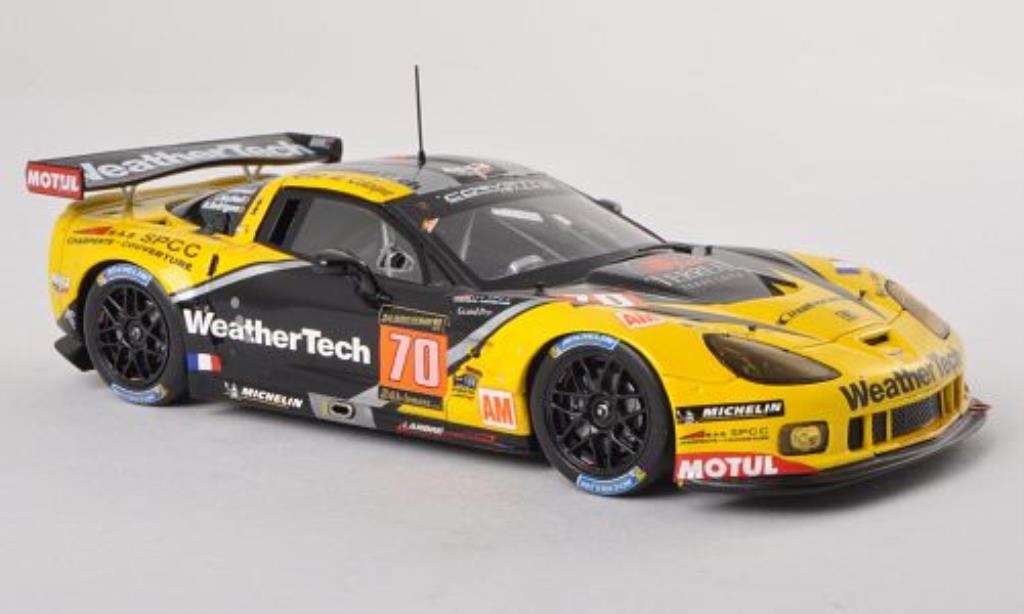 Chevrolet Corvette C6 1/43 Spark .R ZR1 No.70 Larbre Competition 24h Le Mans 2013 /M.Rodrigues miniature