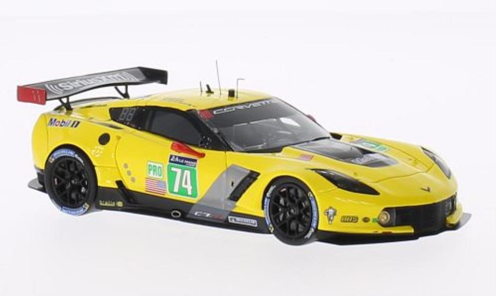 Chevrolet Corvette C7 1/43 Spark C7.R No.74 Corvette Racing 24h Le Mans 2014 /R.Westbrook miniature