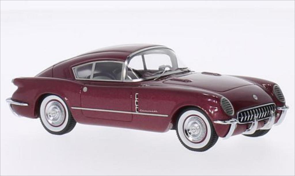 Chevrolet Corvette C1 1/43 Matrix Corvair Concept metallise red 1954 diecast model cars