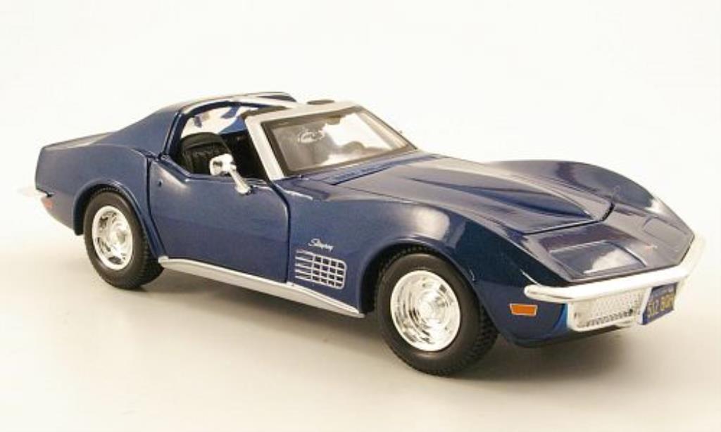 Chevrolet Corvette C3 1/24 Maisto bleu 1970
