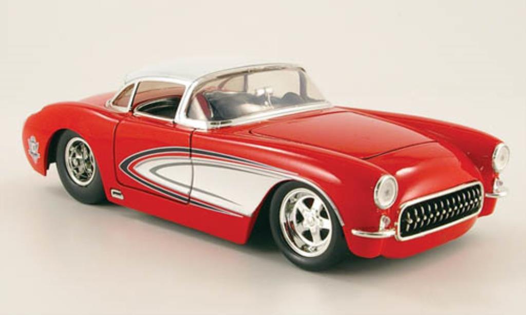 Chevrolet Corvette C1 1/24 Jada Toys red/white 1957 diecast