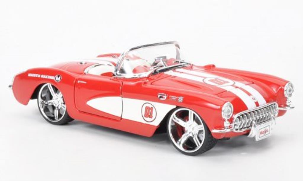Chevrolet Corvette C1 1/24 Maisto red /white 1957 diecast