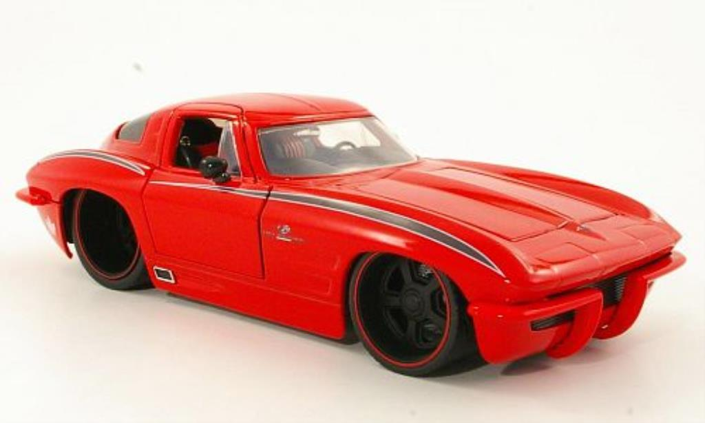 Chevrolet Corvette C2 1/24 Jada Toys Toys Sting Ray rouge 1963 miniature
