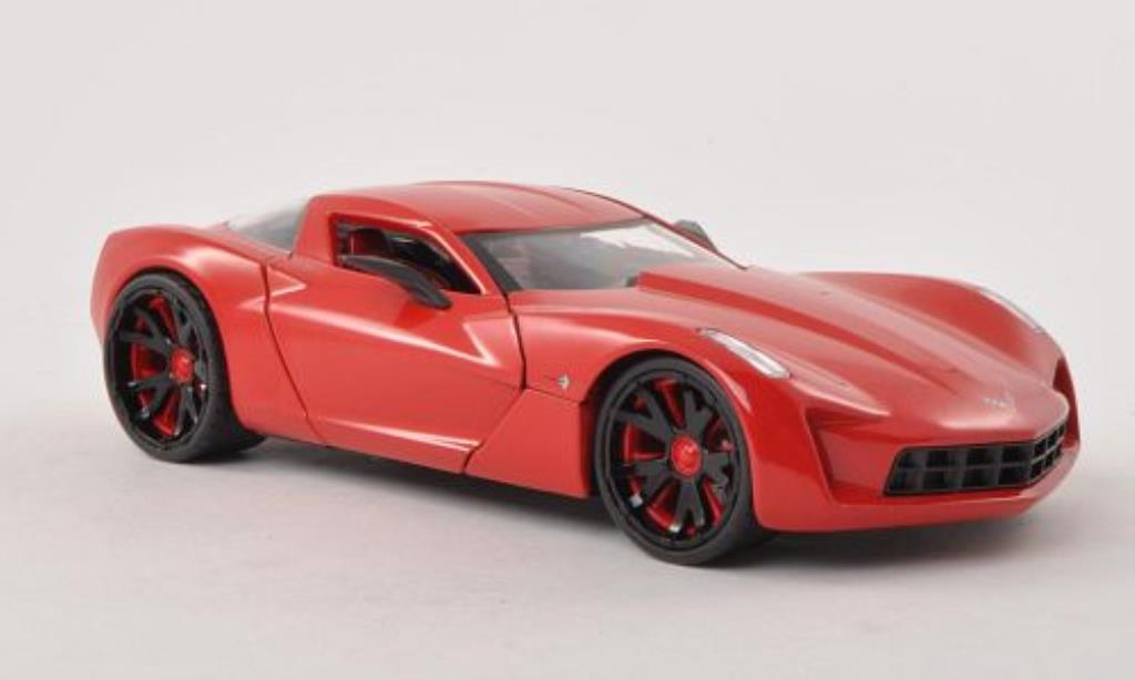 Chevrolet Corvette C6 1/24 Jada Toys Toys Concept red 2009 diecast model cars