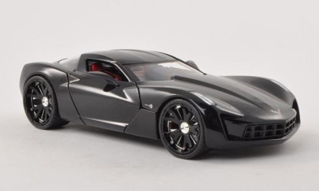 Chevrolet Corvette C6 1/24 Jada Toys Concept black 2009 diecast