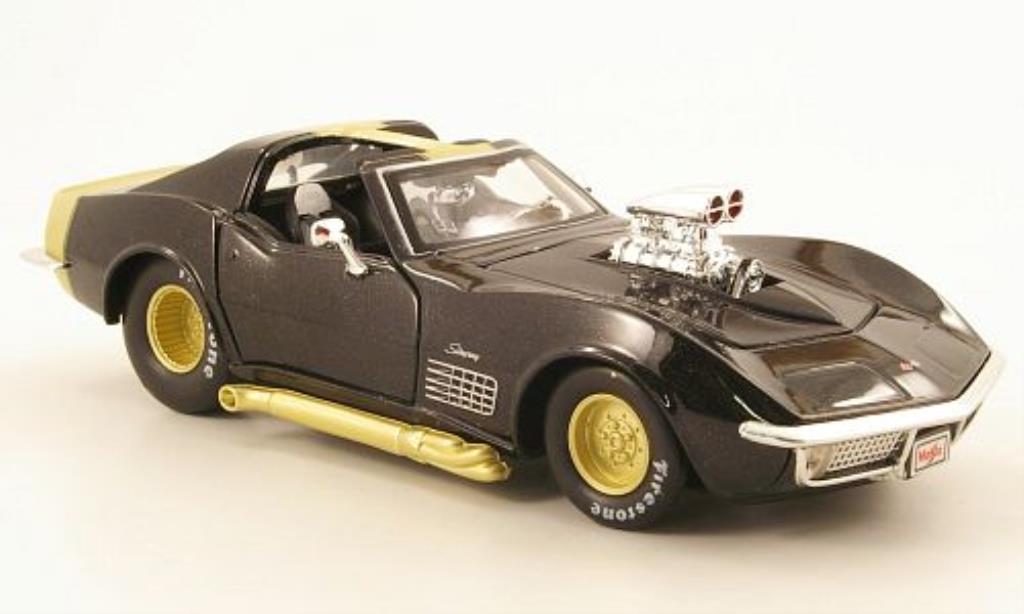 Chevrolet Corvette C3 1/24 Maisto black/gold 1970 diecast model cars