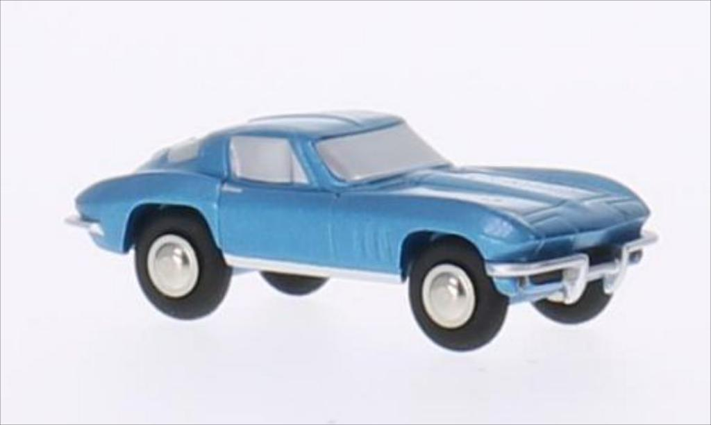 Chevrolet Corvette Stingray 1/90 Schuco Stingray metallise bleu miniature
