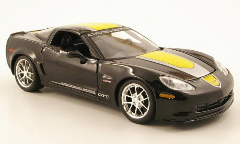 Chevrolet Corvette C6 1/24 Maisto GT1 nero Commemorative Edition 2009 miniatura