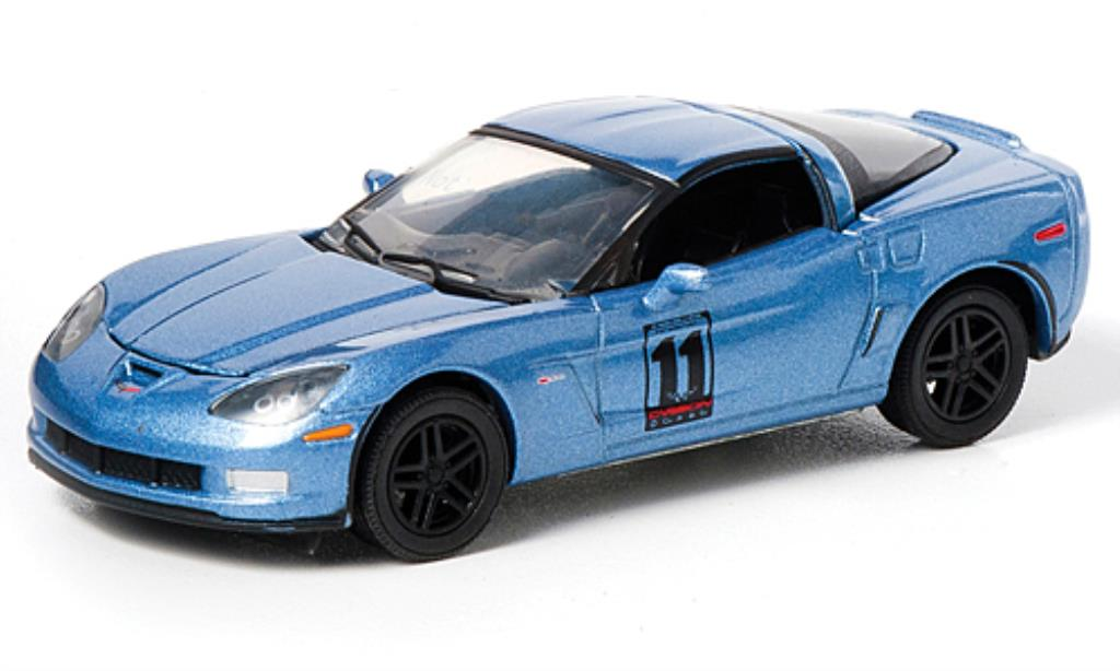 Chevrolet Corvette C6 1/64 Greenlight bleu 2011 miniatura