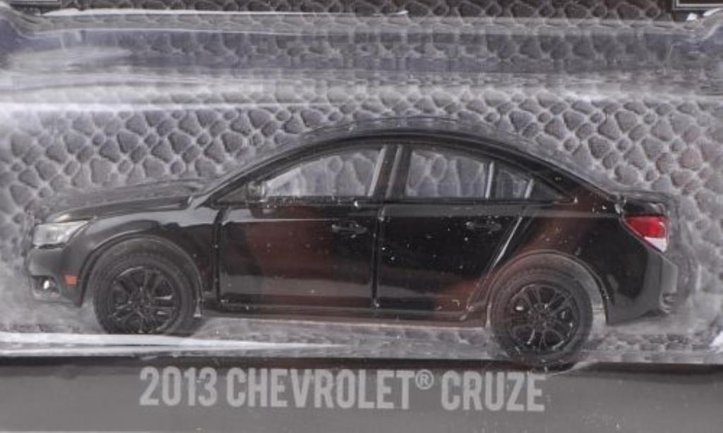 Chevrolet Cruze 1/64 Greenlight noire 2013 miniature