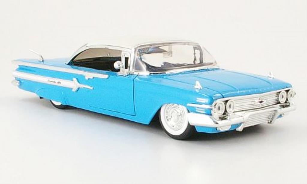 Chevrolet Impala 1/24 Jada Toys Toys bleu/blanche 1960 miniature