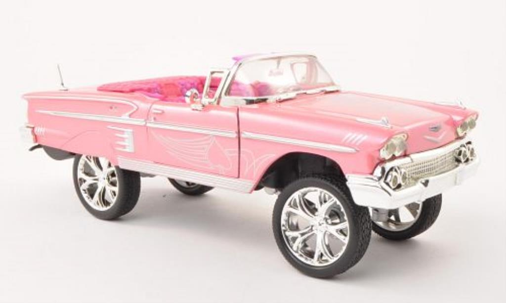 Chevrolet Impala 1/24 Motormax High Rider pink mit Dekor 1958 miniature
