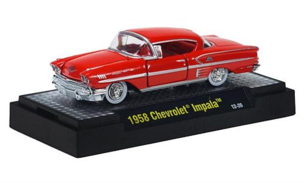 chevrolet impala rot 1958 mcw modellauto 1 64 kaufen. Black Bedroom Furniture Sets. Home Design Ideas
