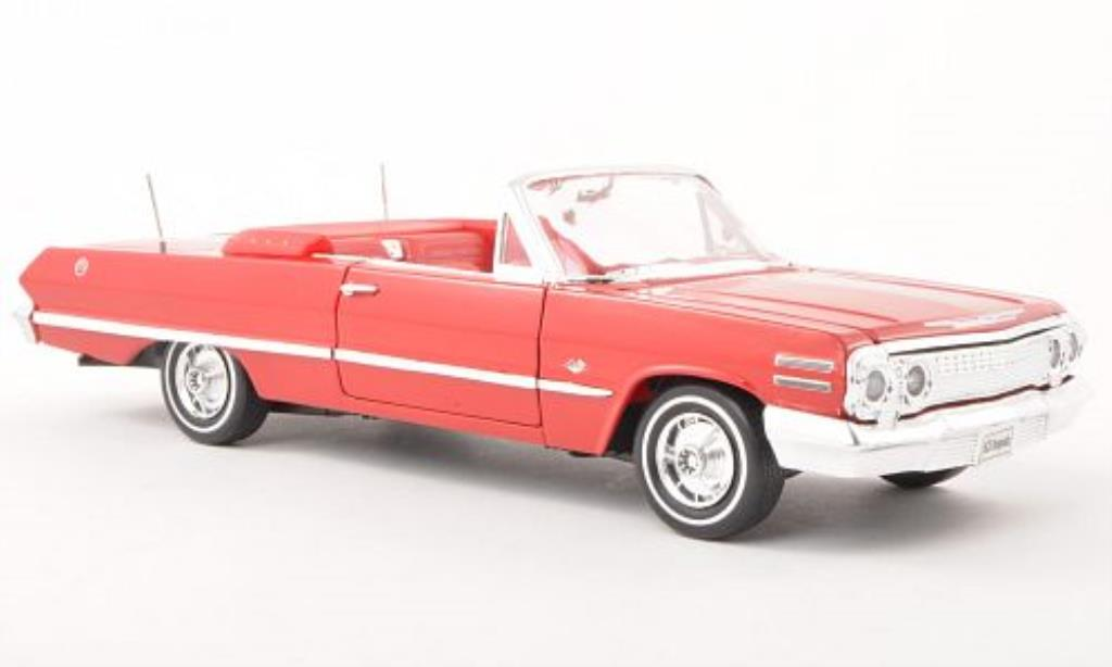 Chevrolet Impala 1/24 Welly red offen 1963 diecast model cars