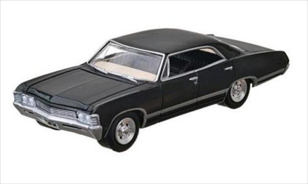 Chevrolet Impala 1/64 Greenlight Sport Sedan noire 1967 miniature
