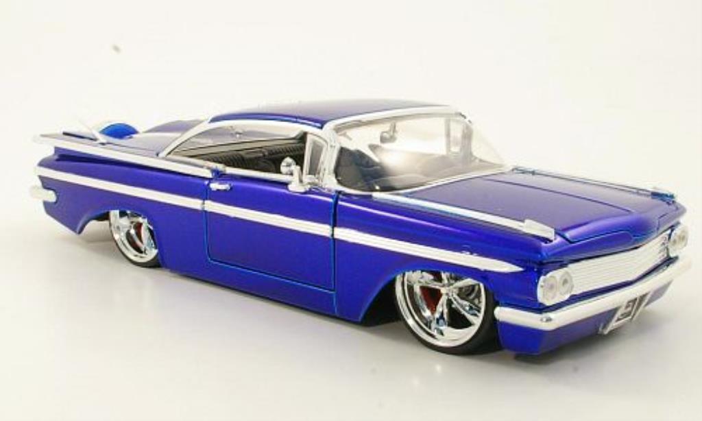 Chevrolet Impala 1/24 Jada Toys Toys Tuning bleu 1959 miniature