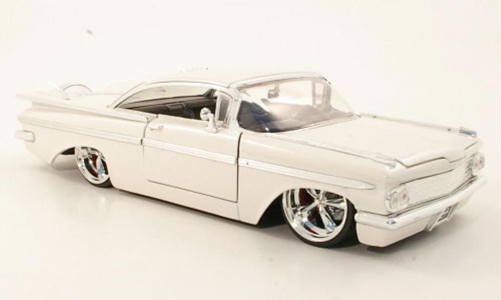 Chevrolet Impala 1/24 Jada Toys Toys Tuning blanche 1959 miniature
