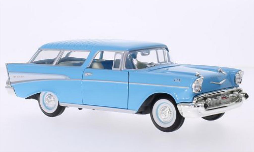 Chevrolet Nomad blue/white 1957 MCW. Chevrolet Nomad blue/white 1957 miniature 1/24