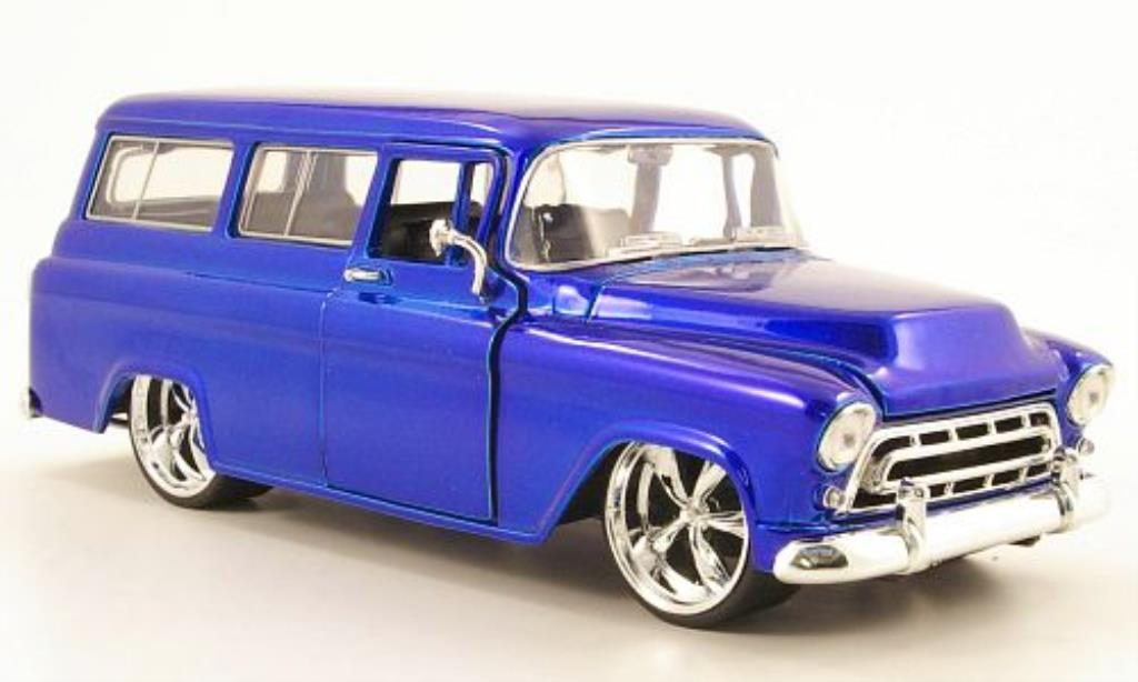 chevrolet suburban blau 1957 jada toys modellauto 1 24 kaufen verkauf modellauto online. Black Bedroom Furniture Sets. Home Design Ideas