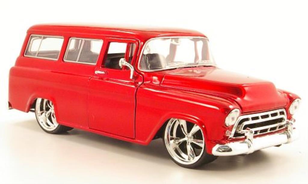 Chevrolet Suburban 1/24 Jada Toys rouge 1957 miniature
