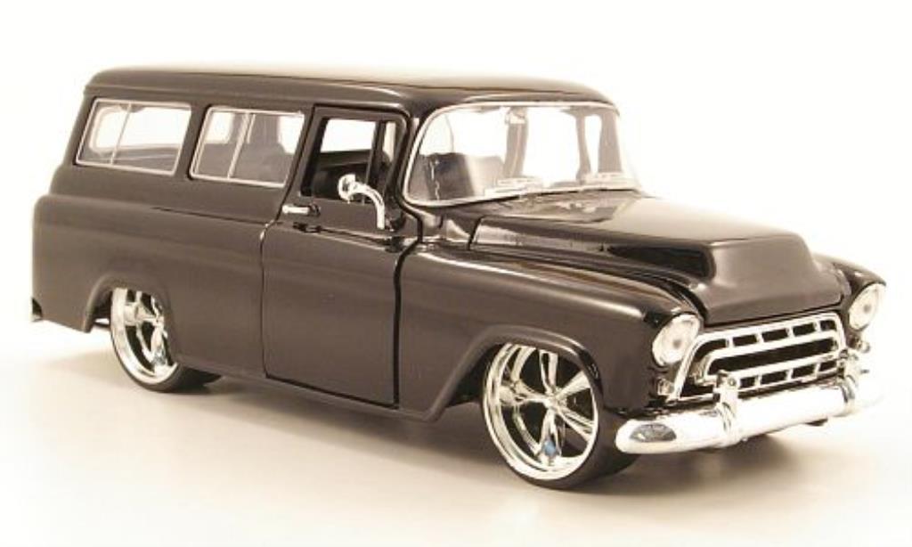 chevrolet suburban schwarz 1957 jada toys modellauto 1 24 kaufen verkauf modellauto online. Black Bedroom Furniture Sets. Home Design Ideas