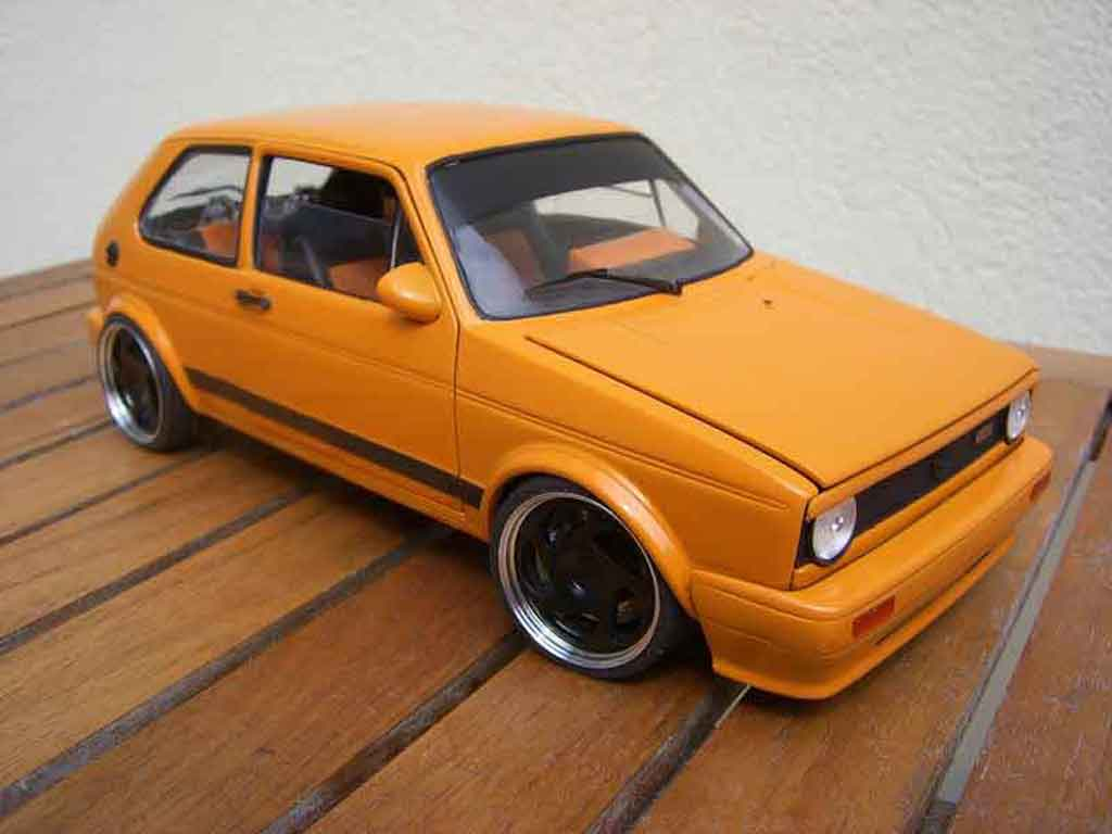 Volkswagen Golf 1 GTI 1/18 Solido kit carrosserie rieger tuning miniature