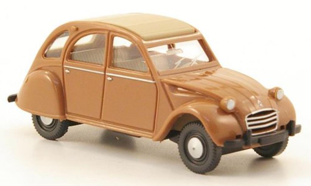 Citroen 2CV 1/87 Wiking marron/beige miniature