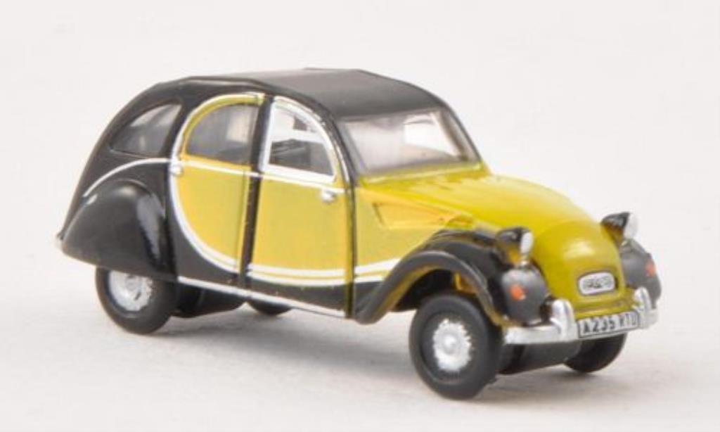 Citroen 2CV 1/148 Oxford Charleston jaune/noire 1950 miniature