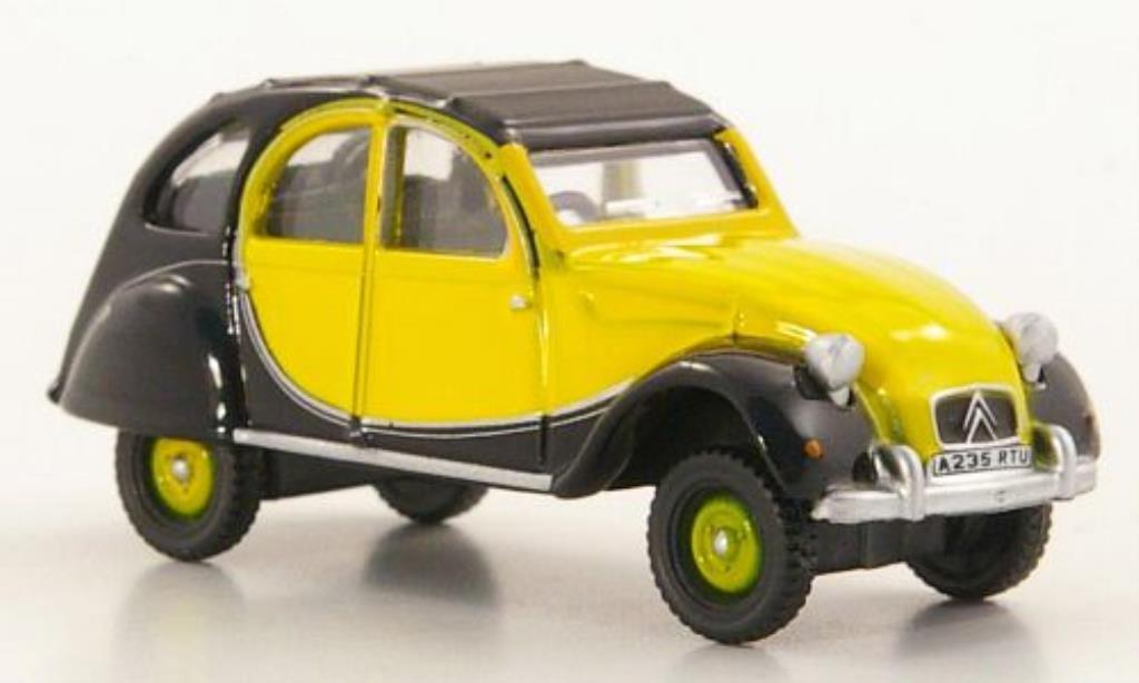 Citroen 2CV 1/76 Oxford Charleston jaune/noire RHD 1963 miniature