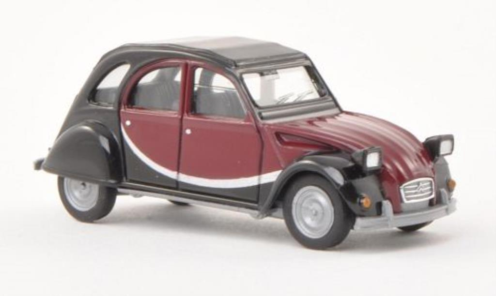 Citroen 2CV 1/87 Herpa Charleston noire/rouge miniature
