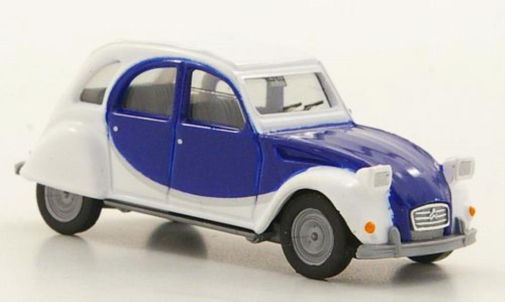 Citroen 2CV 1/87 Herpa Charleston white/bleu
