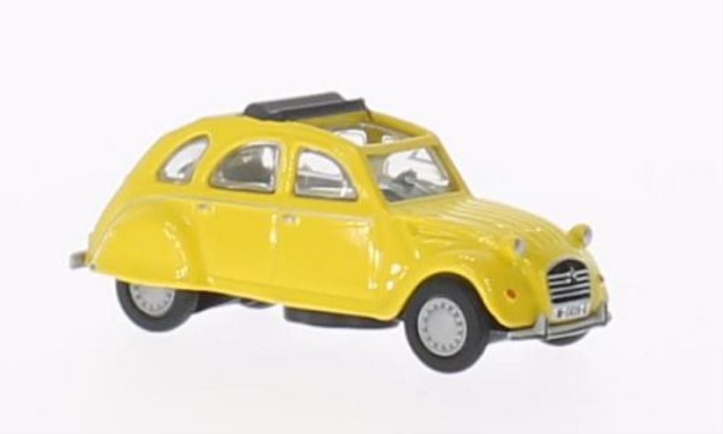 Citroen 2CV 1/87 Schuco jaune miniature