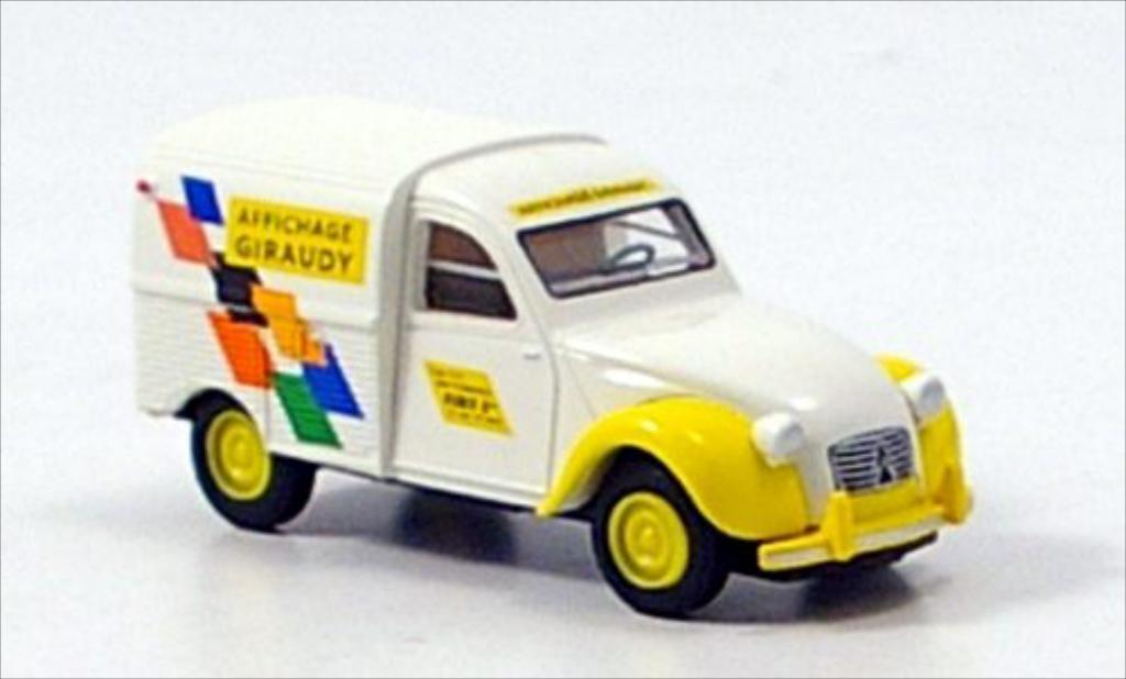 Miniature Citroen 2CV Kasten Giraudy Brekina. Citroen 2CV Kasten Giraudy miniature 1/87