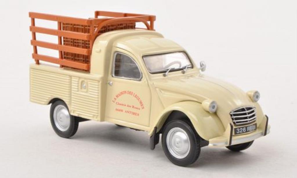 citroen 2cv miniature pick up livreur de legumes eligor 1 43 voiture. Black Bedroom Furniture Sets. Home Design Ideas