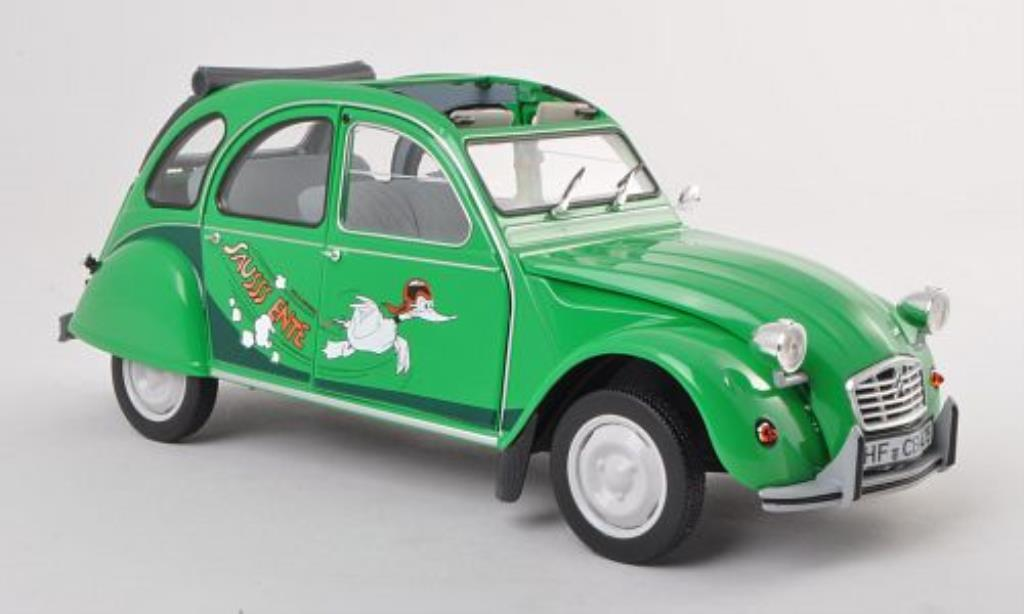citroen 2cv6 club sausss ente green 1987 norev diecast model car 1 18 buy sell diecast car on. Black Bedroom Furniture Sets. Home Design Ideas