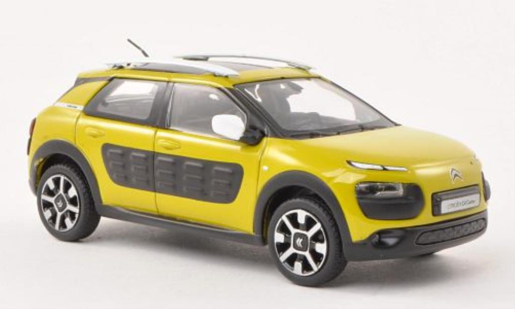 citroen c4 miniature cactus jaune verte matt noire 2014 norev 1 43 voiture. Black Bedroom Furniture Sets. Home Design Ideas